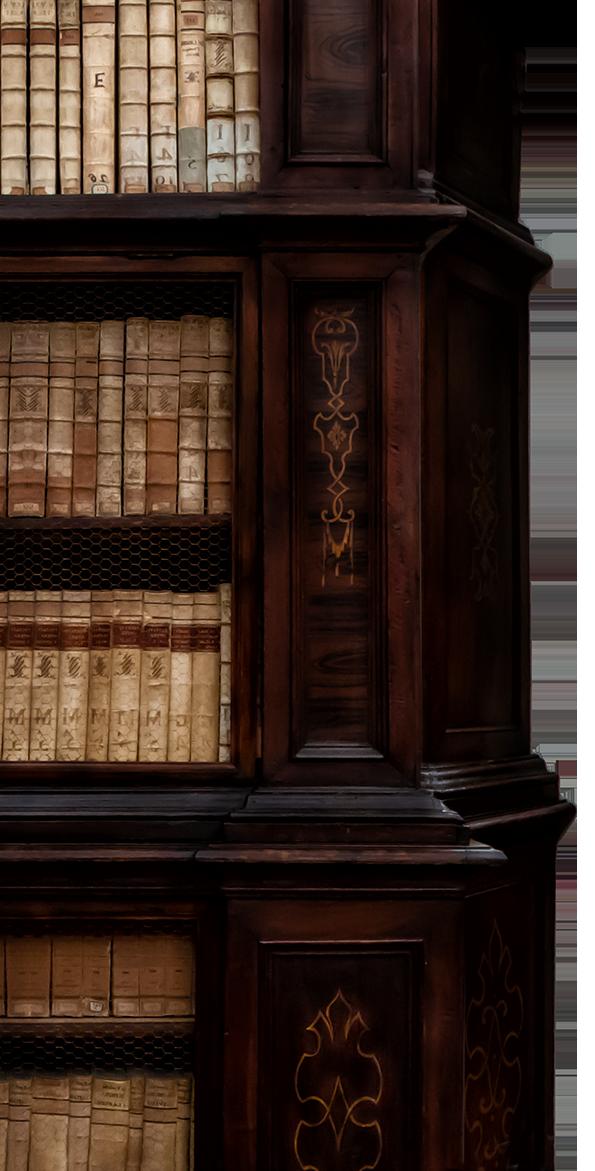 biblioteca seconda parete sx
